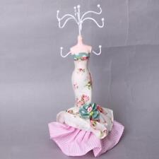 Présentoir Porte Bijoux Boucles d'Oreilles Collier Mannequin en Robe Floral