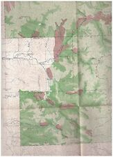 1898 color map Washington Forest Reserve Timber  National Forest burned areas