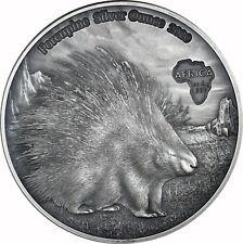 Ghana 1000 Francs 2020 Stachelwein -  Porcupine Silver Ounce Antique Finish