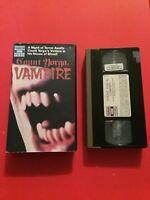 Count Yorga, Vampire  1970 VHS Video Tape Horror Romance HBO Video