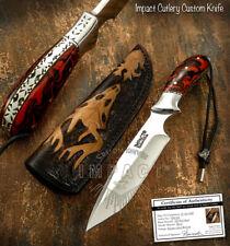 IMPACT CUTLERY RARE CUSTOM D2 FULL TANG BUSHCRAFT SKINNING KNIFE RESIN HANDLE