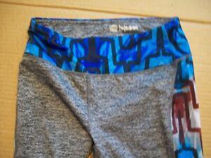 LuLaRoe Womens XS Blue Gray Geometric Leggings Yoga Pants