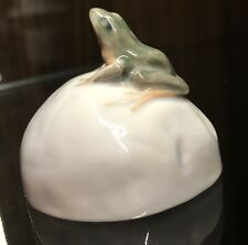 Vintage Royal Copenhagen Porcelain Figurine Statue Frog On Stone #507