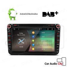 "VW Transporter Golf Caddy/Seat 8"" Car DVD Stereo Radio GPS SAT NAV Android 6.0"
