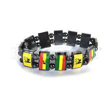 Conquering Lion Of Judah Hemitate Rasta Bracelet Wrist Band Reggae Marley RGY