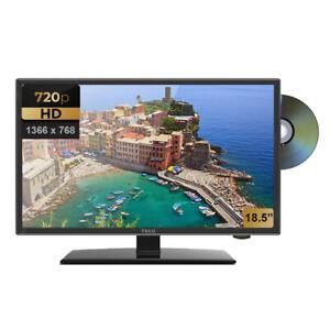"TECO 12V/240V 18.5"" LED TV HD DVD COMBO REGION FREE CARAVAN FREE CAR PLUG"