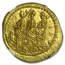 Thracian/Scythian Gold Stater w/Monogram (1st Century BC) MS NGC - SKU #95790