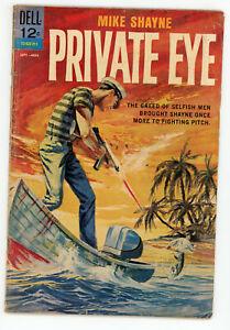JERRY WEIST ESTATE: MIKE SHAYNE PRIVATE EYE #3 (Dell 1962) VG & SPYMAN #1 Harvey