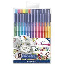 Genuine Staedtler Triplus1.0 mm Fibre Tip Pens 26 Brilliant Colours 323TB26JB