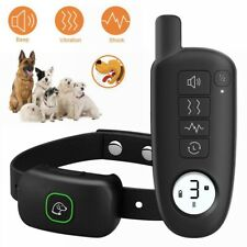 330 Yards Electric Dog Shock Collar 300m Remote Waterproof IP67 LCD Pet Training