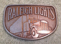 Raleigh Lights Semi Truck Metal Belt Buckle Driver Trailer OTR Load Cab Sleeper
