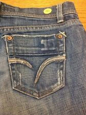 Joe's distressed women's denim blue jeans shorts size 2 #41 Made in USA
