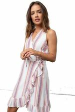 RAILS Madison Jewel Stripe Wrap Dress M NEW WITH TAGS