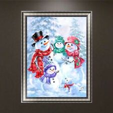 Christmas Snowman DIY 5D Diamond Embroidery Painting Cross Stitch Art Home Decor