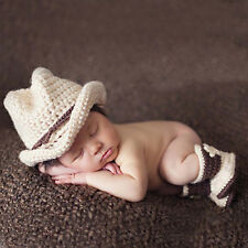 Newborn Baby Girls Boys Crochet Knit Costume Photo Photography Prop Outfit Neu