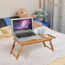 Table de lit pliable pour PC portable notebook  tablet en bambou avec tiroir