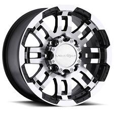 "17"" Vision Black Wheels rims 33"" AT Tires 8x6.5 8 lug Dodge Chevy GMC RAM truck"