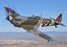Spitfire Vintage Plane  Poster Print..A4 260GSM