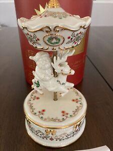 LENOX Holidays China Jewels Musical Figurines SANTA CAROUSEL in Box
