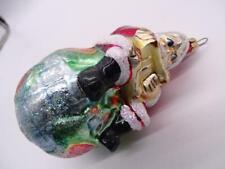 Vtg Christopher Radko Glass Figural Christmas Ornament 1995 Santa Claus Globe
