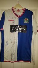 Camicia calcio da uomo-Blackburn Rovers-Home 2009-10 M-firmato da 7 del team