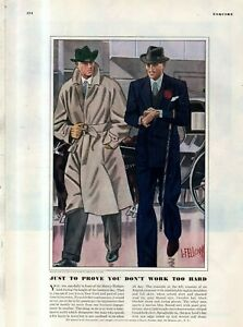 1939 Navy Blue Town Overcoats by Laurence Fellows