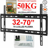 TV WALL BRACKET MOUNT SLIM FOR 32 40 45 50 55 60 65 70 INCH 3D LCD LED PLASMA