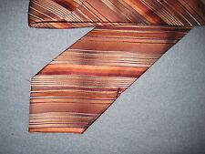 Mens Red Striped Print Silk Tie Necktie Van Heusen ~ FREE US SHIP (6924)