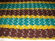 New Handmade Handcrafted Crochet Afghan Throw Blanket ~ Acrylic Multi color