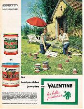 PUBLICITE ADVERTISING  1960   VALENTINE  peinture