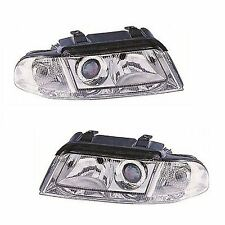 Audi A4 B5 (8D) Saloon 1999-9/2001 Halogen Headlights Headlamps 1 Pair O/S & N/S