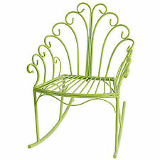 Wire Child's Rocking Chair Green - D36437Gree