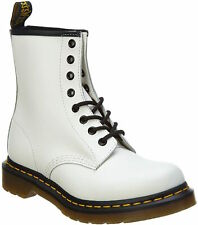 Women's Shoes Dr. Martens 1460 8 Eye Leather Boots 11821100 WHITE SMOOTH