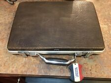 American Tourister Brown Briefcase Case Hard Shell Vintage 17x13