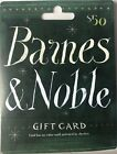 Barnes & Noble $50 Gift Card Not Activated Zero 0 Balance For Sale