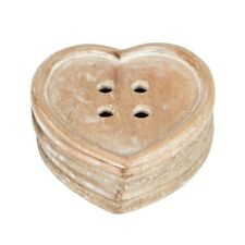 Set of 4 Heart Cat Set of 6 Button Wooden Rustic Vintage Coasters