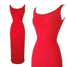 vintage 60s pinup cocktail evening rhinestone pencil dress gown vlv glam