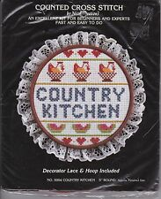 Nicole Creations Country Kitchen 5004 Counted Cross Stitch Kit loop Lace NIP