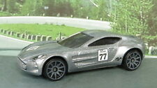 ASTON MARTIN ONE-77 1:64 (Grey/Grey) Hot Wheels MIP Passenger Diecast Sports Car