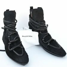 BALENCIAGA New sz 38 - 8 Womens Ankle Fur Winter Shoes Boots zip black $1425