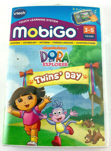 Vtech Mobigo Dora The Explorer Twin's Day Learning Game Touch Software Sealed