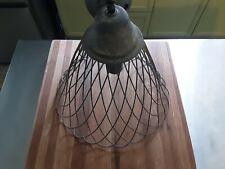 Vintag Metal Cage Hanging Ceiling Lamp.