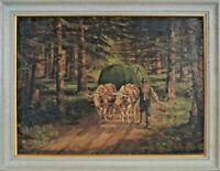 Emil Englerth (1883 - 1947) -  Rural Country Scene 1929 Austrian Oil On Canvas