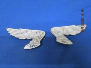 2 NOS Honda Vintage Emblems, Early 70's CB CL ( Winged )  Matched Set NOS   B882