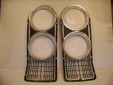 1966 DODGE CORONET HEADLIGHT BEZELS OEM PAIR