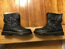 dr martens boots womens size 8 black With Buckles