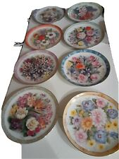 Danbury Mint Eight Bouquets Of The World Collectors Plates by D. Hague Numbered