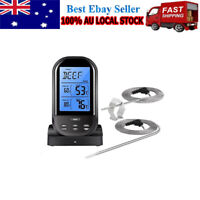 Food Meat Oven BBQ Thermometer Digital Wireless Remote Dual 2 Probe Cooking Set