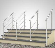 Treppengeländer Edelstahl Handlauf Aufmontage Seitenmontage Querstabhalter V2A