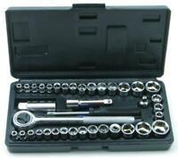 "Socket Set Cheap Small Universal 40Pc 1/4"" & 3/8"" Handycase Diy Home Garage Tool"